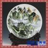 景德镇瓷盘摆件中式花鸟装饰盘子挂盘家居客厅工艺品摆设