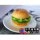 挂饰 化妆镜 汉堡包 精美仿真食物饰品 创意新奇特包包挂件 热销