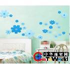 创意家居 组合墙贴 墙贴/墙纸 蓝色小花