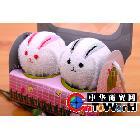 2011超市热销 造型毛巾 情侣兔  创意礼品
