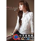 韩版女装百搭水鑽小立領打底衫 时尚长袖衬衫