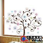 批发创意贴纸墙贴梦幻树半透明磨砂客厅电视背景墙壁贴XY8037