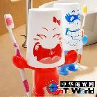 爱情大力士创意情侣牙杯 牙膏架 牙刷架三合一  q24