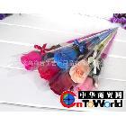 热销情人节创意礼品新款尖筒单支玫瑰香皂花厂家直销量大优惠