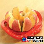 批发不锈钢切果器(带手柄) 苹果切割器 创意家居用品  懒人用品