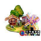 创意玩具拼板拼图 益智拼图 风车屋 孩子的最爱 还等什么