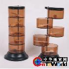 供应促销赠品 圆形创意调味盒 旋转式四层调料盒