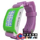 【包邮】供应2012新电子礼品 创意电子礼品 led电子表 触摸控制