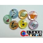 供应圆形树脂染色卡通纽扣,童装纽扣,儿童纽扣